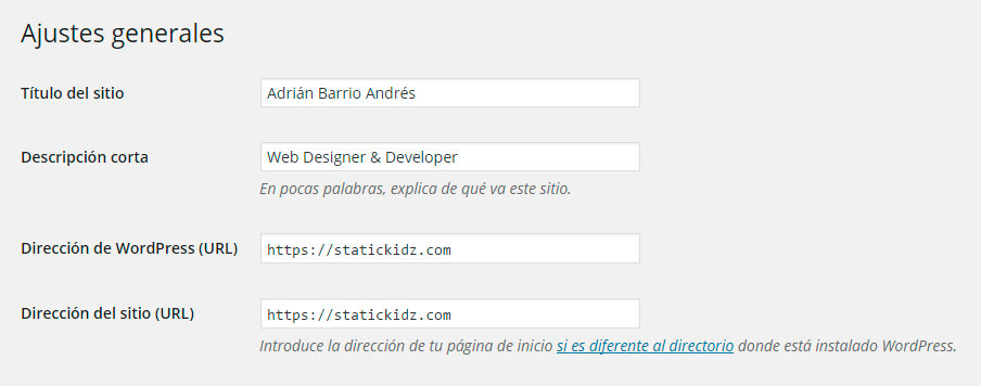 Cambio de URL a HTTPS en WordPress